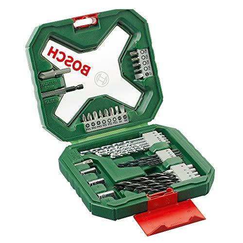Bosch Set X-Line de 34 unidades para atornillar y taladrar (madera, piedra y metal, accesorios para taladros)