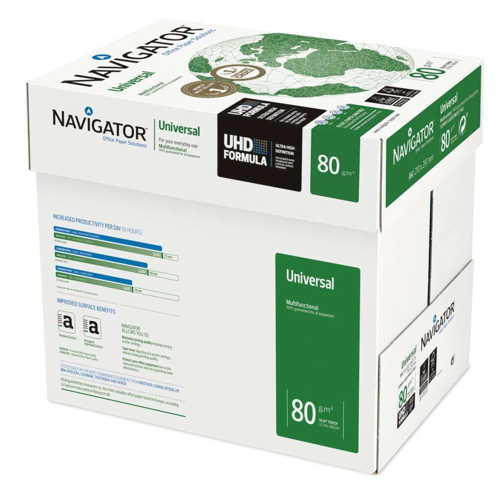 5 paquetes de 500 hojas A4 Navigator por 13,96€    Unidad suelta a 2,97€ (Student a 2,45€)
