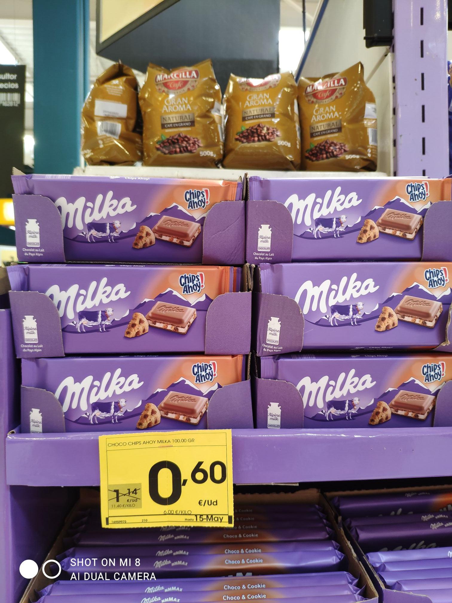 Milka chips ahoy en Eroski ingenio de Vélez Málaga