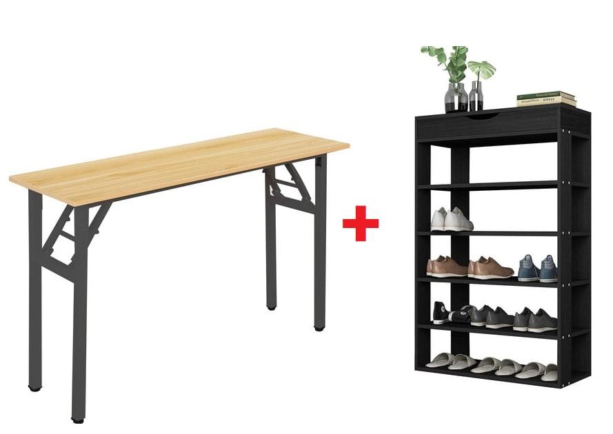 Mesa escritorio + zapatero 5 baldas 33.9€