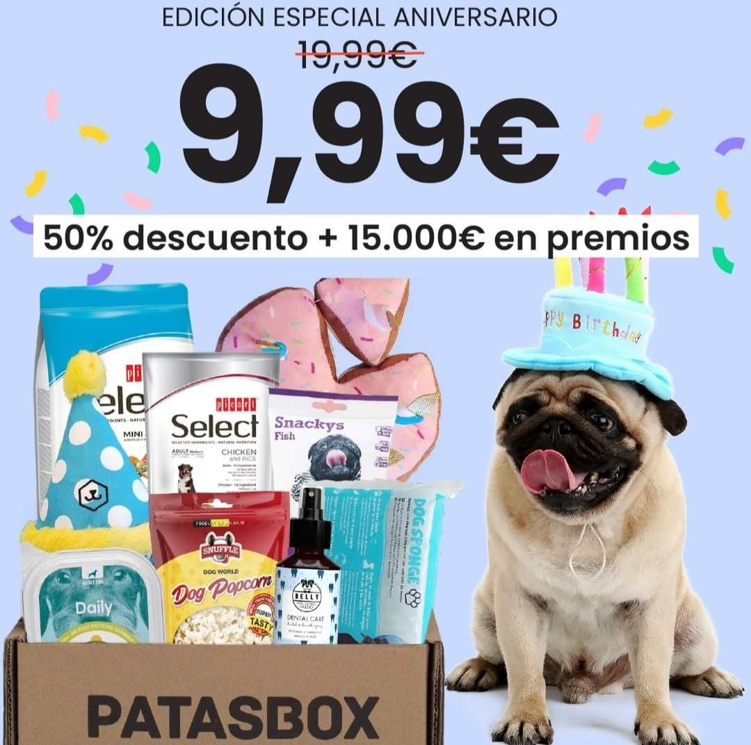 Caja Patasbox aniversario a 9.99 euros y envio gratuito