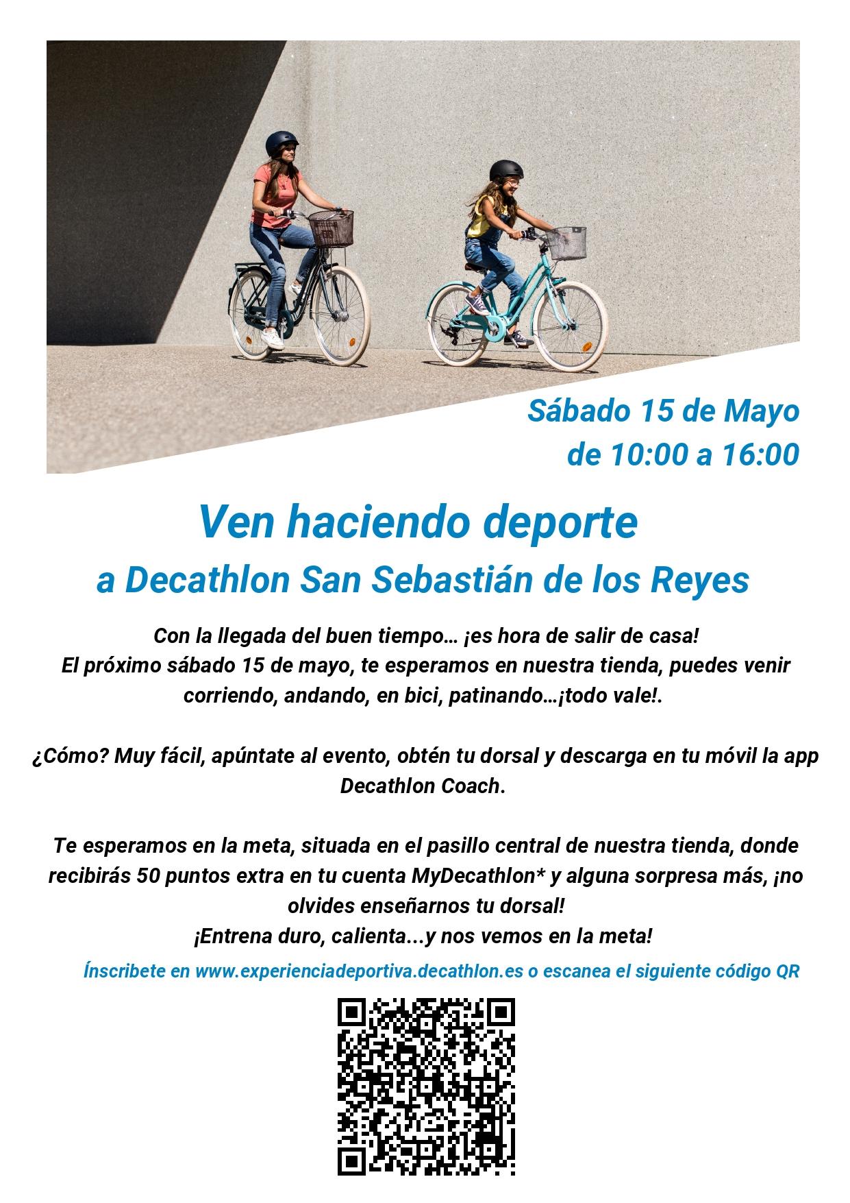 50 Puntos MyDecathlon más bebida y barrita en Decathlon San Sebastian de los Reyes