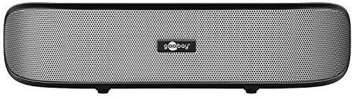 Goobay 95041 Soundbar 6 W Altavoces estéreo para PC, TV y portátil, Negro (De 2° mano, como nuevo)