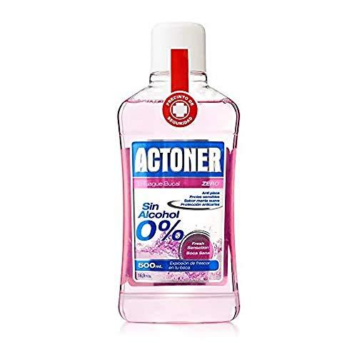 6 unidades Actoner, Enjuague Bucal Sin Alcohol, Encías Sensibles, 500 ml