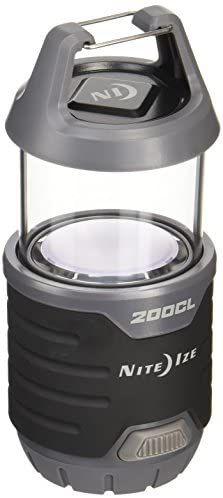 Nite Ize Radiant 200 - Linterna plegable 2 en 1, color negro
