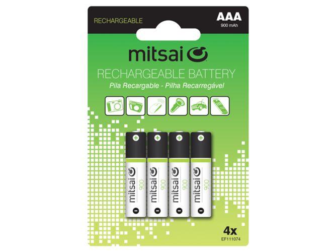 Pilas recargables HR3 AAA 900MAH (4 unidades)