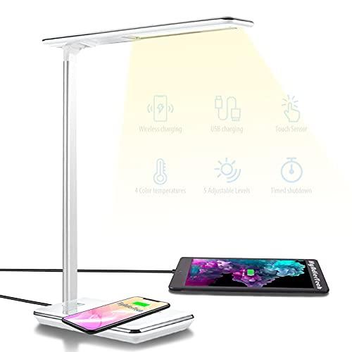 Lámpara Escritorio LED Táctil con cargador Qi (flash + cupón)