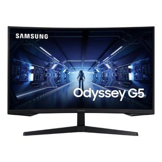 "Monitor - Samsung Odyssey LC32G55TQWRXEN, 32"" WQHD, Curvo, 1 ms, 144 Hz, FreeSync Premium, HDR10, Negro"