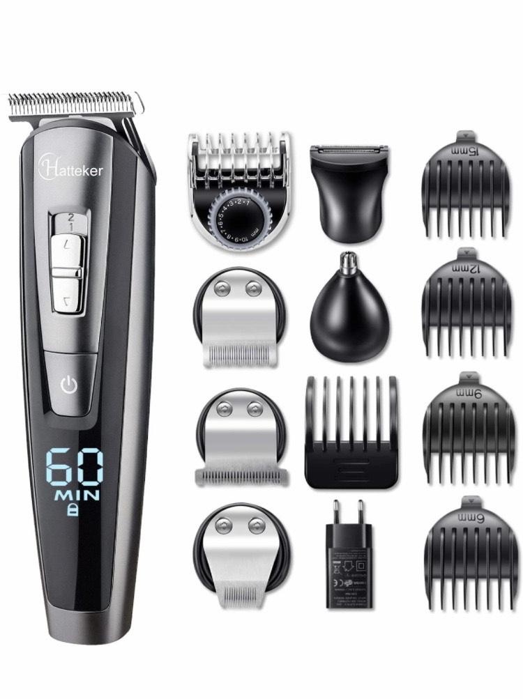 Máquina de Afeitar Recortadora Barba y Precisión Impermeable 5 en 1