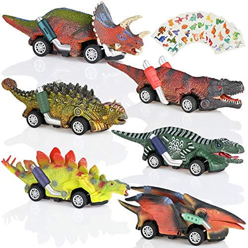 6pz Coche de Juguete de Dinosaurios