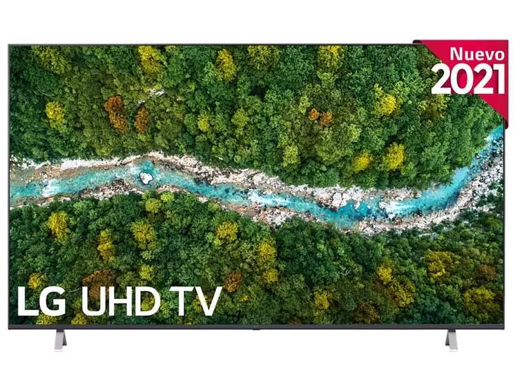 """TV LED 75"""" - LG 75UP77006LB.AEU, UHD 4K, QuadCore, webOS 6.0, Smart TV, Asistentes de voz, AI Sound, Negro"""