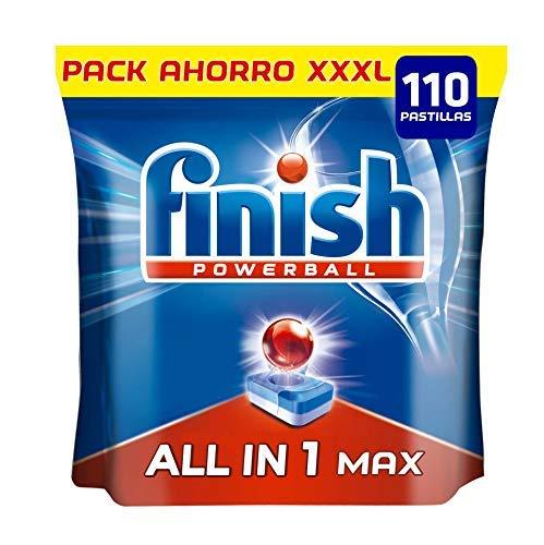 Finish Powerball All in 1 Max - Pastillas para el lavavajillas todo en 1 - formato 110 unidades 0,15€/unidad