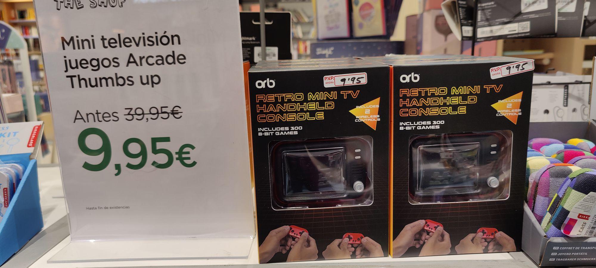 Orb retro mini tv console en el corte inglés de Bilbao