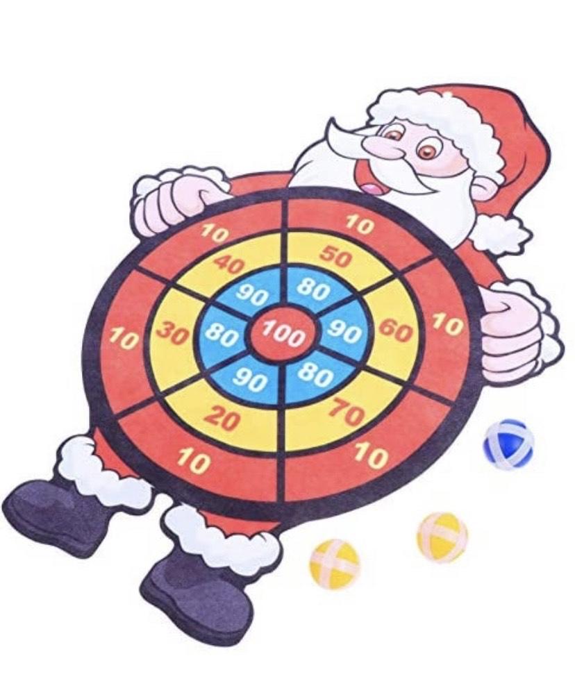 Stobok - Juego de dardos de Navidad con juego de dardos de Papá Noel y 3 bolas