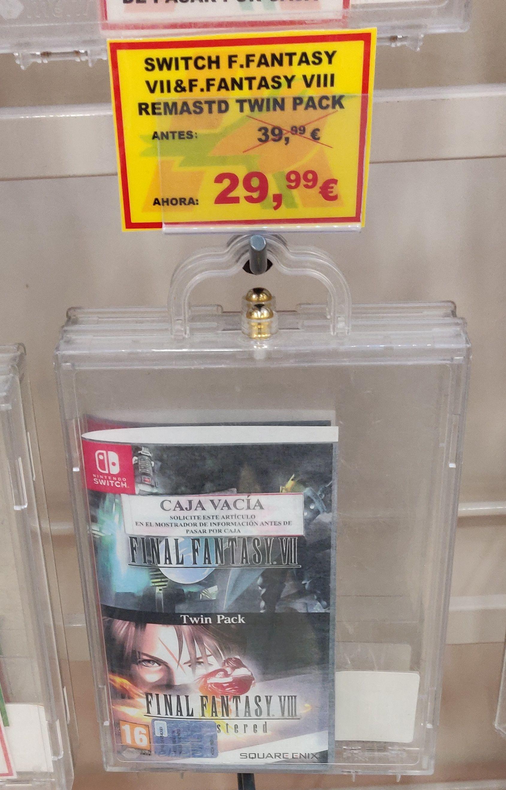 Final Fantasy Switch en Alcampo Parque Corredor (Madrid)