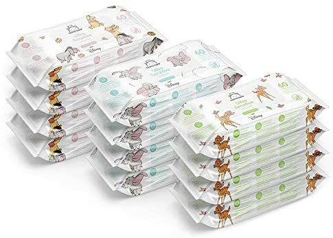 Toallitas biodegradables ultrasensibles (12x60 | 720 Toallitas) Disney. (Compra recurrente)
