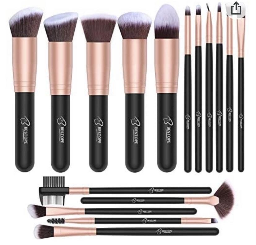 Set de brochas de maquillaje profesional BESTOPE 16 piezas