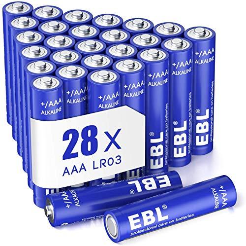 EBL 28 X Pilas AAA de 1,5V Alcalinas