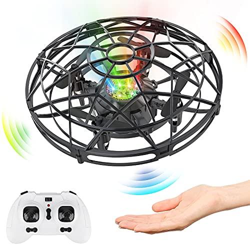 Drone, Teledirigido o Control de Mano de 360° Rotación con Luces LED.