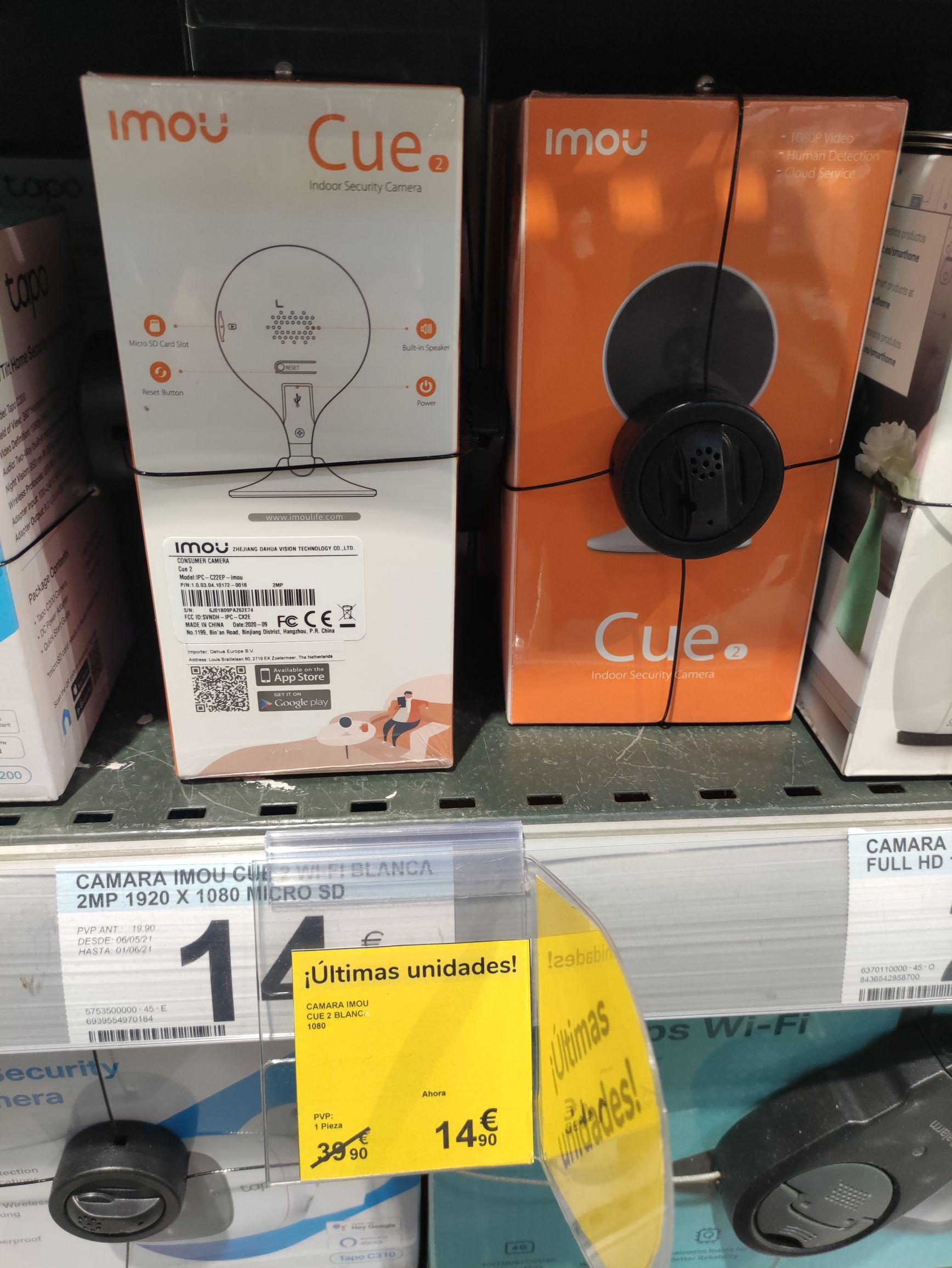 Cámara de vigilancia IMOU Cue 2 en Carrefour Les Glòries, Barcelona.