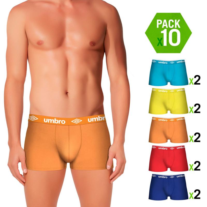 Pack 10 calzoncillos Boxers UMBRO en Varios Colores