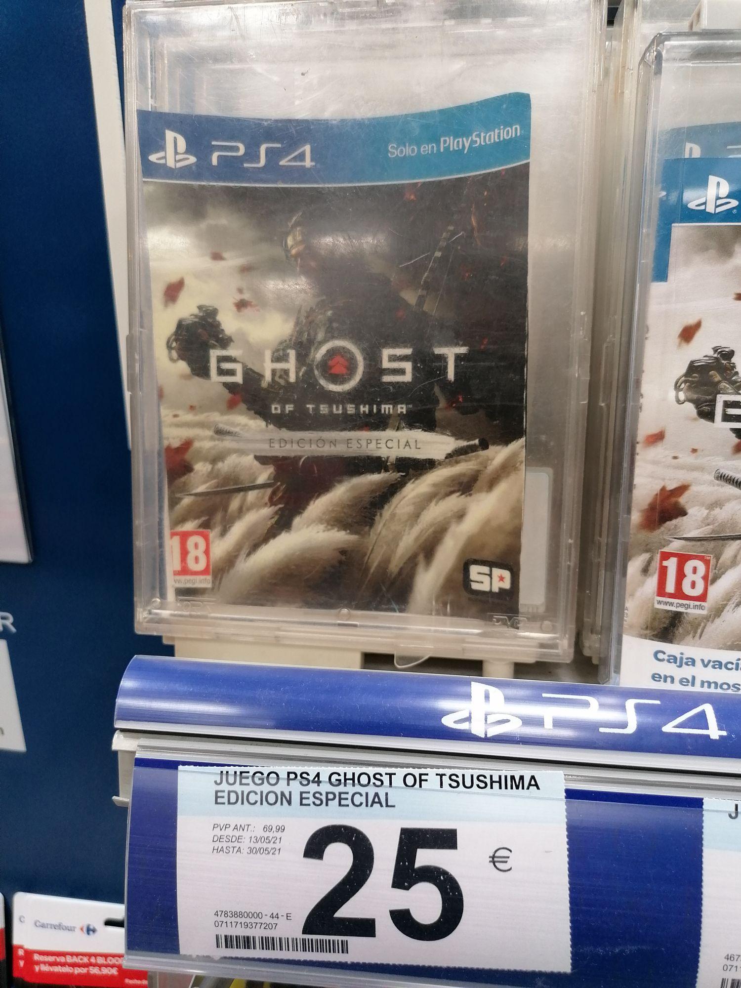 Ghost of Tsushima edición especial PS4 en Carrefour Talavera
