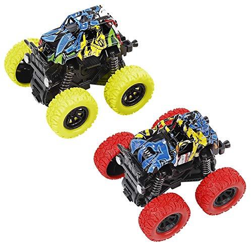 Pack de 2 Camiones Monstruo, de fricción, y tracción.