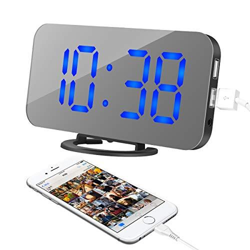 Reloj Digital con Gran Pantalla LED de fácil Lectura.