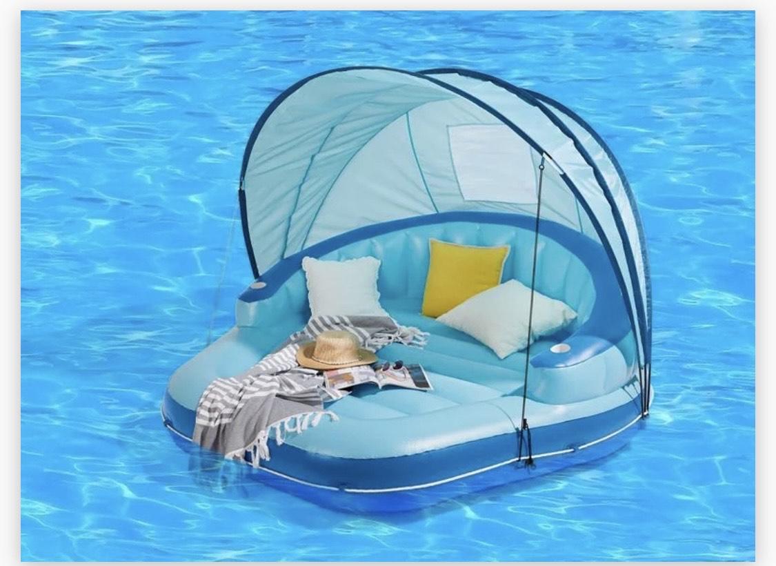 Isla hinchable piscina