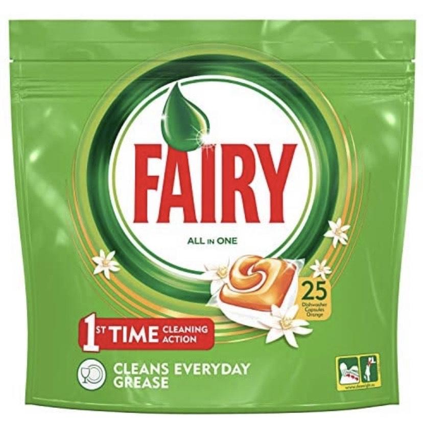 Fairy Cápsulas para lavavajillas – 7 paquetes de 25 cápsulas [175 cápsulas]