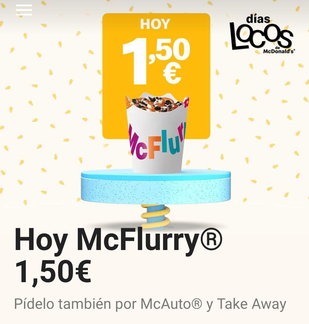 McFlurry a 1,50€