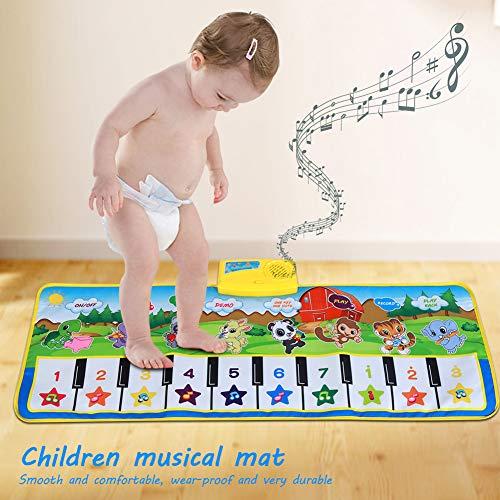 Alfombra teclado musical de bebé.