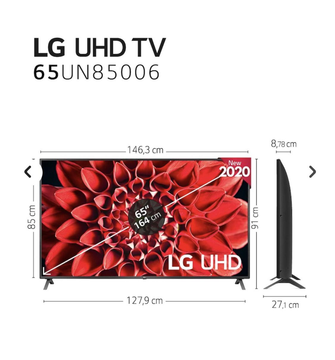 Televisión LG 65'' con HDMI 2.1 (10% extra El Corte Ingles +)
