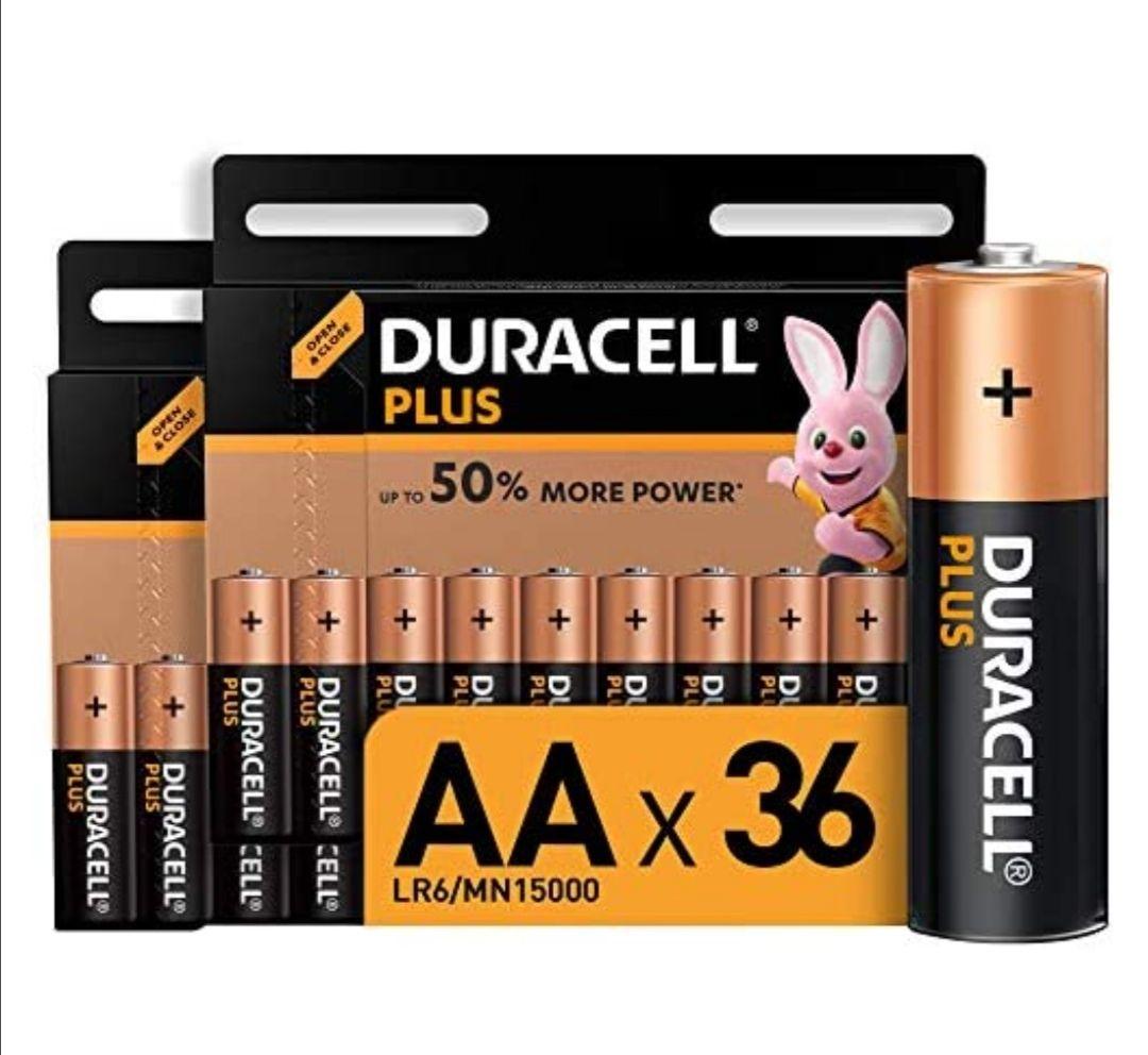 Pilas Alcalinas Duracell Plus AA