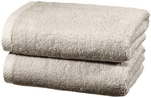 Amazon Basics - Juego de 2 toallas de secado rápido, 2 toallas de mano - Gris