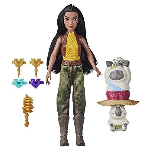 Disney Muñeca con set Fortaleza y estilo de Raya y el último dragón, rizador