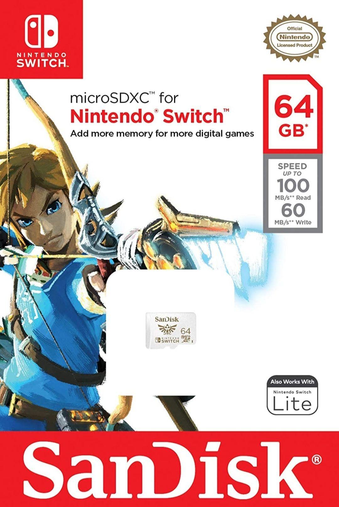 MicroSD SanDisk Zelda 64GB (Switch)