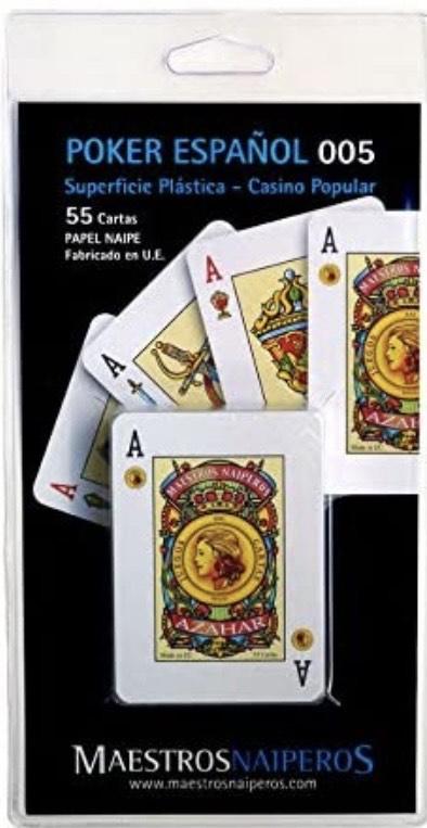 Maestros Naiperos- baraja Poker, español, 50, Cartas, Blister, Calidad Casino Popular,