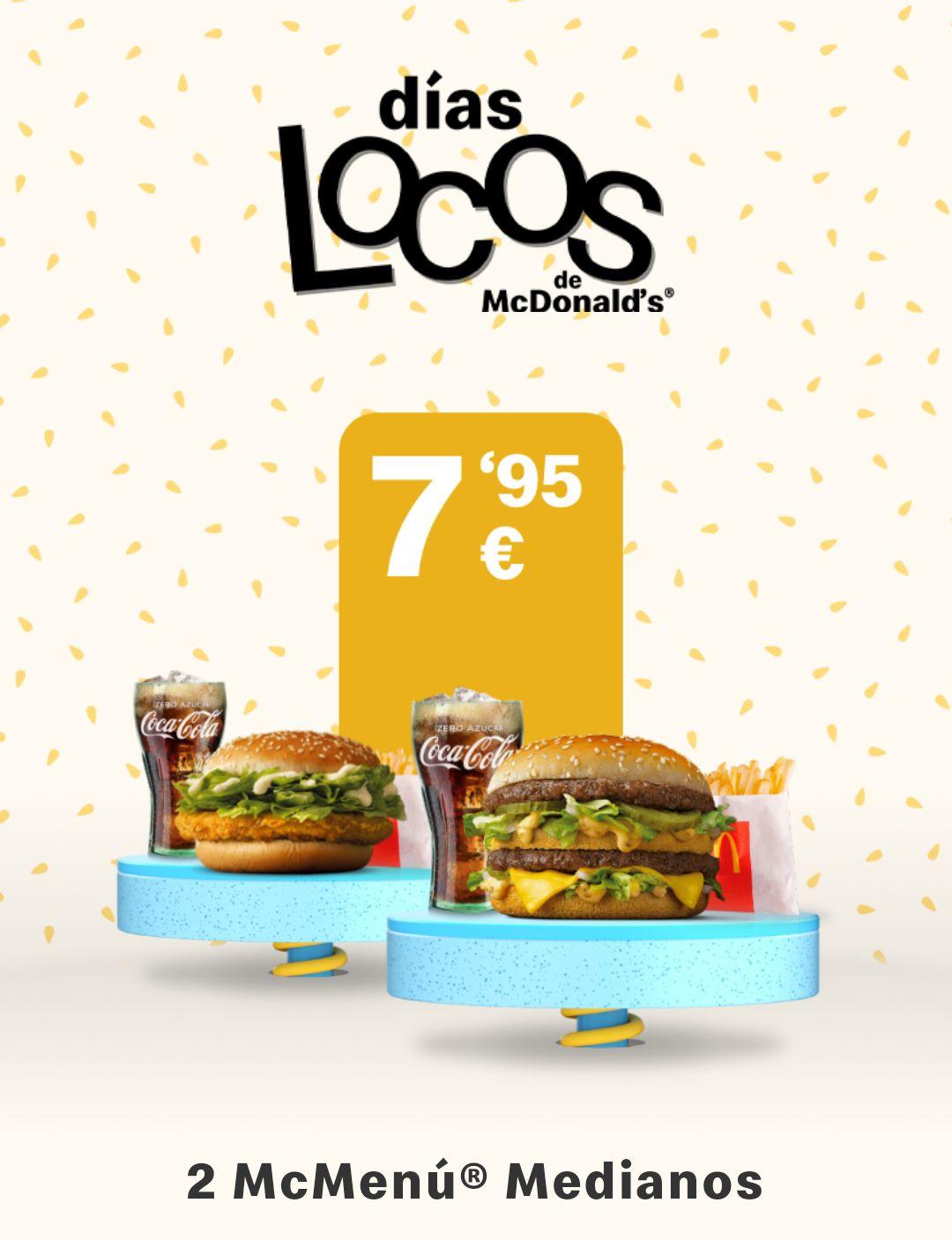 Dos menús medianos completos a 7,95€