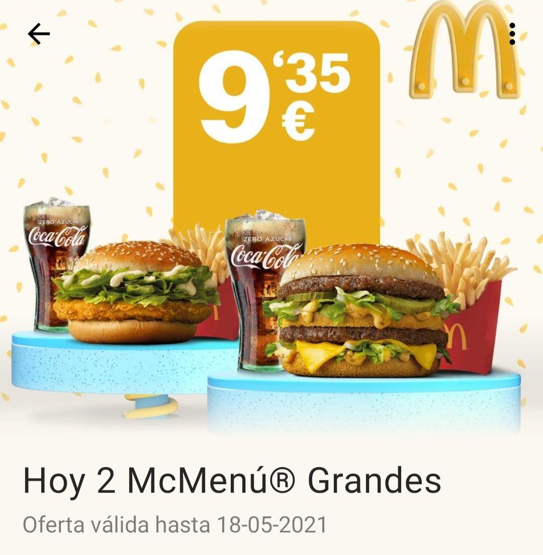 2 Menús GRANDES por 9'35€