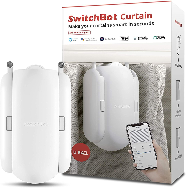 SwitchBot cortina inteligente motor eléctrico, aplicación inalámbrica Hub Mini/Plus Alexa, Google Home, HomePod, IFTTT