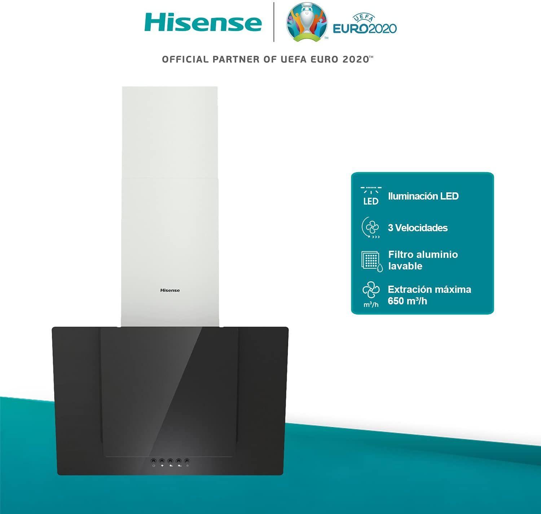 Hisense CH6IN6BXBG - Campana Decorativa 60 cm,