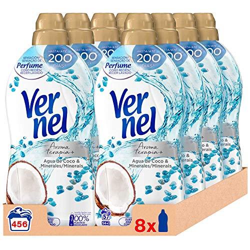 Vernel Suavizante Concentrado para la Ropa Aromaterapia Agua de Coco & Minerals