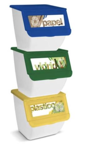 3x Papeleras para reciclaje solo 15€ (desde España)
