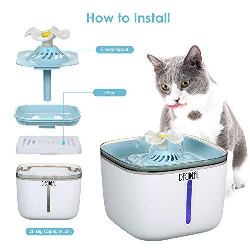 Bebedero Automático, Fuente Silenciosa de Agua para Mascotas, Gatos y Perros con 2 Modos Ajustable.