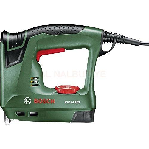 Bosch PTK 14 EDT - Grapadora eléctrica válida para grapas y clavos (240 W)