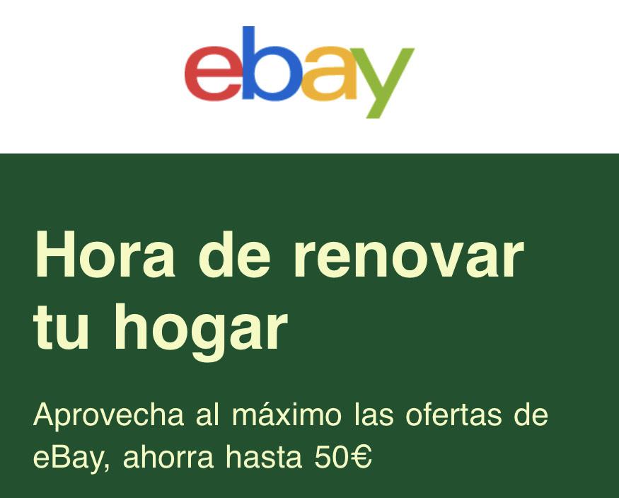 10% de descuento en Hogar Ebay (Cuentas Seleccionadas)