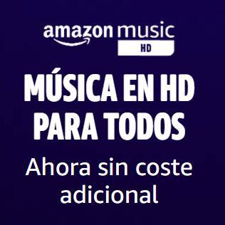 Amazon Music HD para todos, ahora sin coste adicional