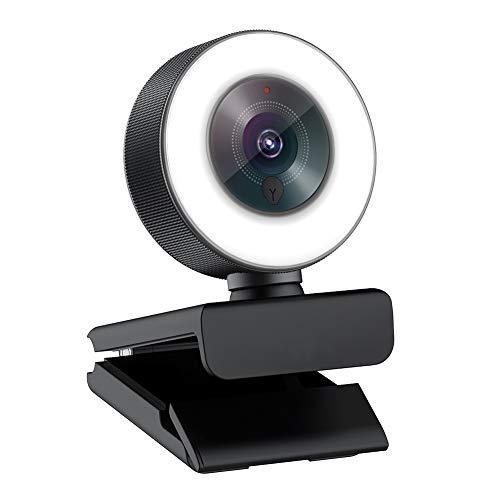 Webcam 1080P para La Retransmisión de Videojuegos Camara Web Luz y Micrófono