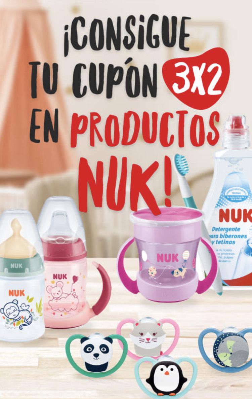 Cupón 3x2 en productos NUK!